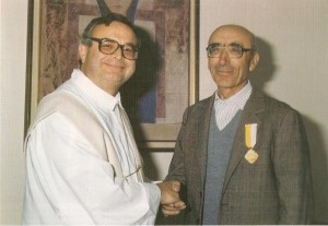 Don Giancarlo Broetto con Bruno Campanaro (Barbiero)